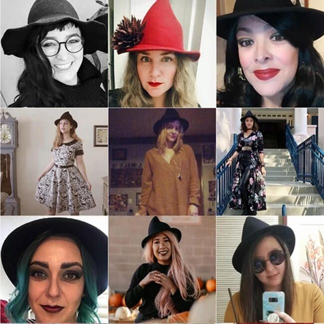 Womens Winter Fashion Witches Hat
